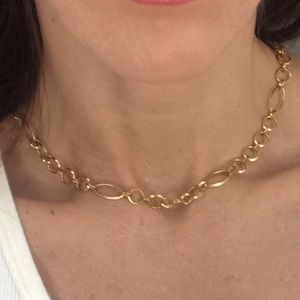 Chunky 14k gold filled chain choker necklace
